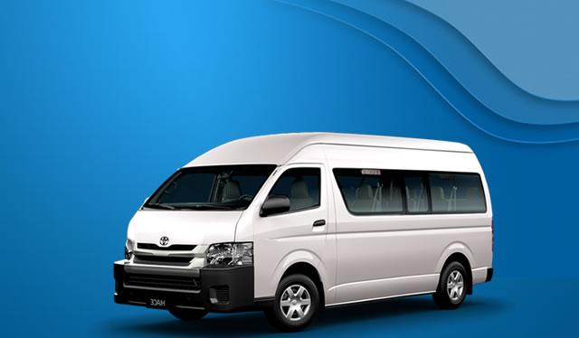 rental Toyota Hiace Commuter